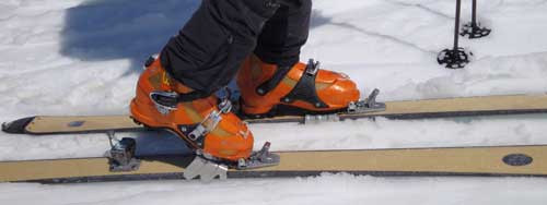 ski crampons and ski mountaineering tools