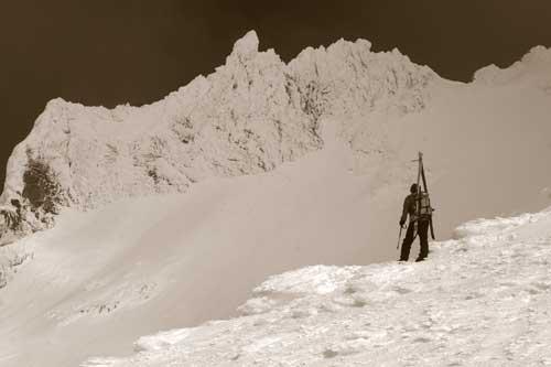 ski mountaineering tools - climbing mt hood