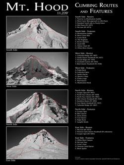 Mt. Hood Climbing Poster