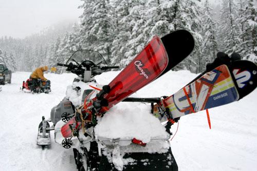 Voile Charger Ski and K2 Darkside ski