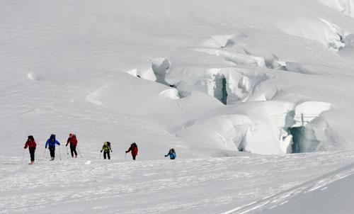 Glacier Skiing - Roped Ski travel