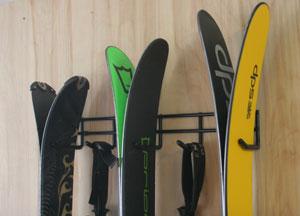 Ski storage racks