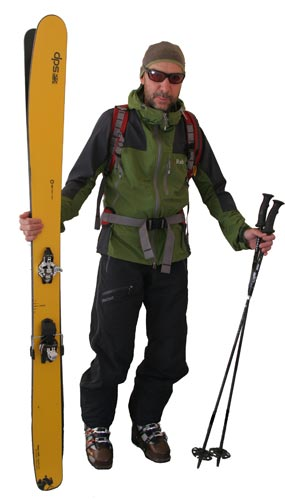 Backcountry skier personality jaded local