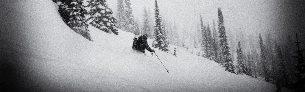 storm day ski