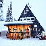 blanket glacier backcoutry ski huts