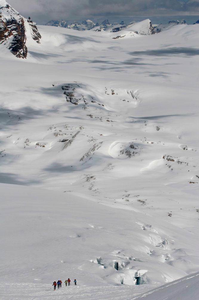 wapiti ski traverse