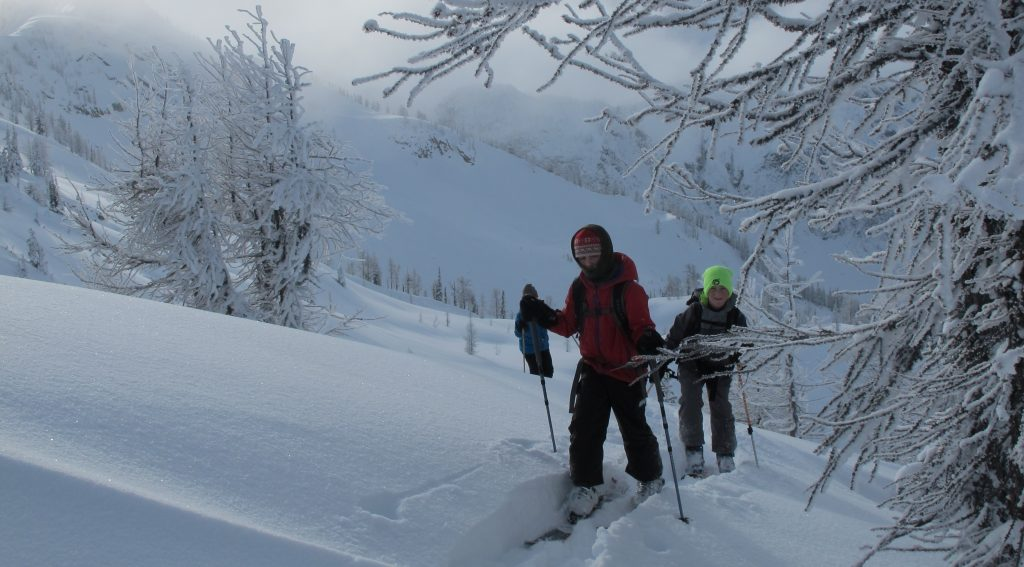 backcountry skiing with kids by Dave Waag