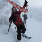 backcountry skiing with kids - pulling skins