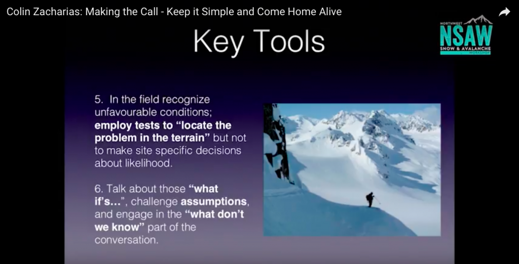 Avalanche Safety - Keep it Simple