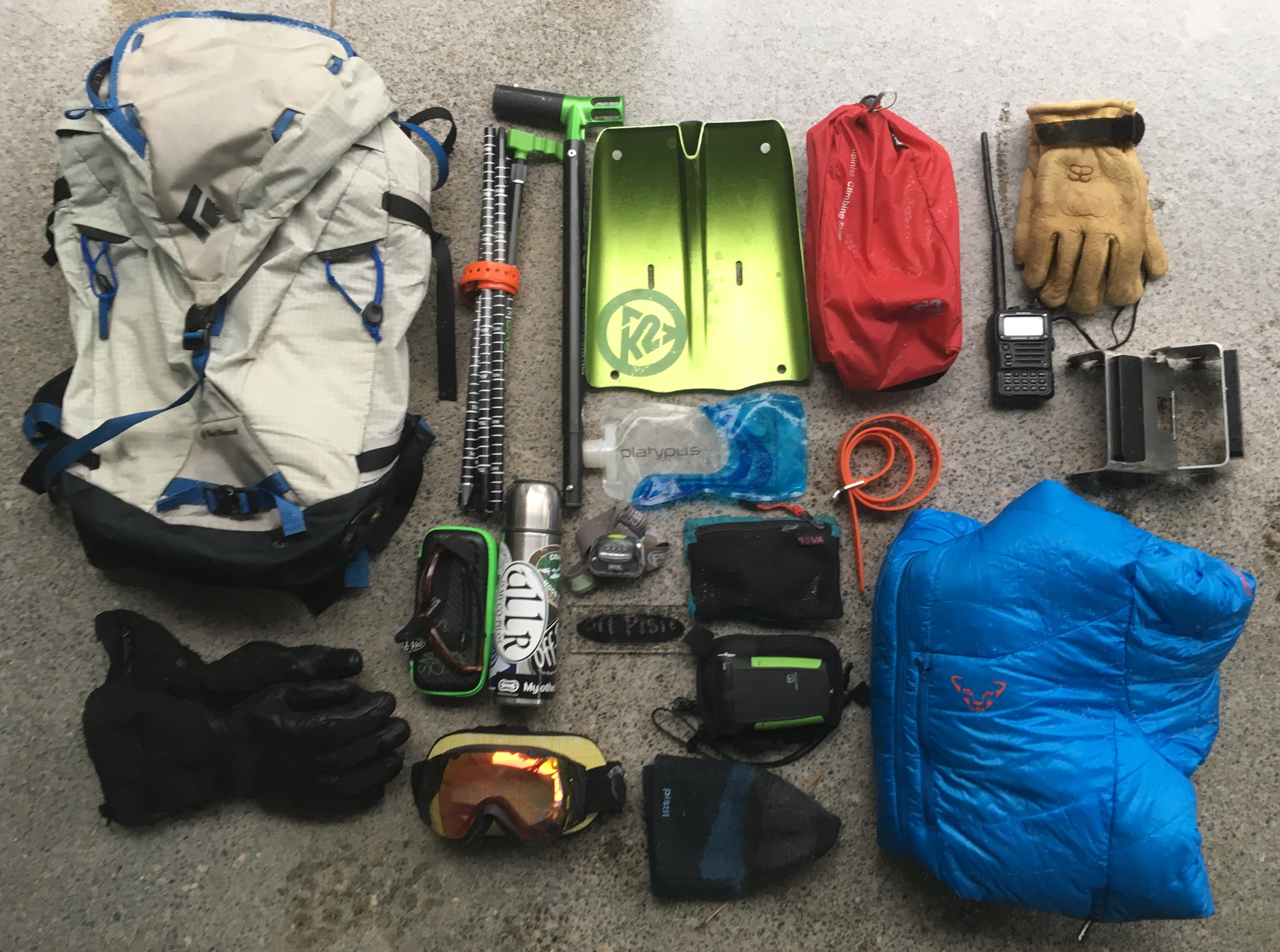 The contents in the photo are from a recent day in the hills where I am  familiar with and confident about the terrain and includes a few items that  I ... cb8139992