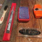 ski waxing tools