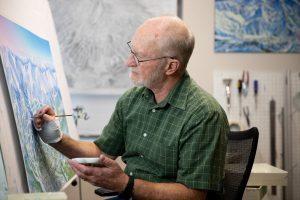 James Niehues The Man Behind The Ski Maps Painting at Canvas