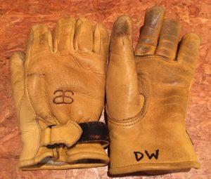 altai leather ski gloves